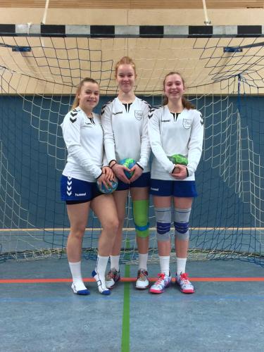 Drei Spielerinnen unserer weibl. C-Jugend gehen zur DHB-Sichtung